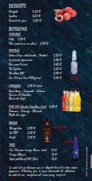 Menu Le Comptoir Nippon - Desserts et boissons