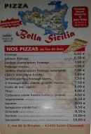 Menu Pizza Bella Sicilia - Les pizzas