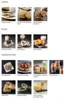 Menu Starbucks coffee - Les cookies, donuts et sandwiches froids