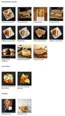 Menu Starbucks coffee - Les sandwiches chauds, lunch box et salades