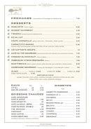 Menu Les Terrasses - les fromages et desserts;....