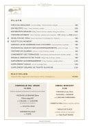 Menu Les Terrasses - Les plats et ravioles