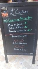 Menu L'escalier - Exemple de menu