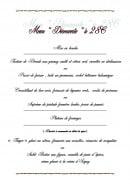 Menu Hostellerie du Grand Sully - Le menu découverte