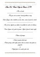 Menu Hostellerie du Grand Sully - Le menu du terroir