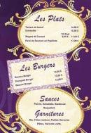 Menu Le Rococo - Les plats, burgers,....