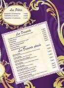 Menu Le Rococo - Les pates et desserts