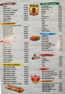 Menu Kebab cinq etoiles - Kebab, paninis et burgers
