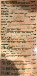 Menu Pizza Lea - les pizzas page 2