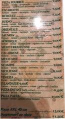 Menu Pizza Lea - les pizzas page 3