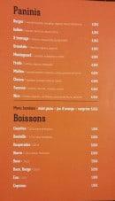 Menu Chez fredo - Les paninis et boissons
