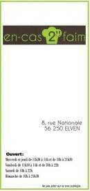 Menu Encas 2 Faim - Carte et menu Encas 2 Faim Elven