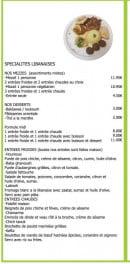 Menu Encas 2 Faim - Spécialités libanaises, entrées, desserts