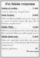 Menu la petite francaise - Les salades