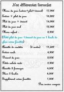 Menu la petite francaise - Les formules