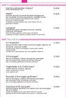 Menu Crazy Lounge - Les plats et pâtes fraiches