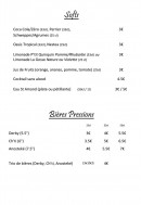 Menu L' Estaminet Lillois - Les softs et bières pression