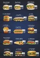 Menu So night burger - Le big cheese, maxi cheese,...