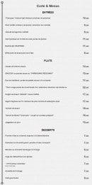 Menu Le R de Roubaix - Les entrées, les plats et les desserts