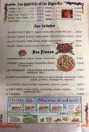 Menu Marmara - Les salades, pizzas,...