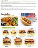 Menu IFood - Assiettes, hot dogs et burgers