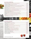 Menu Le Venezia - les pâtes fraîches et sèches