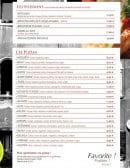 Menu Le Venezia - les poissons et pizzas