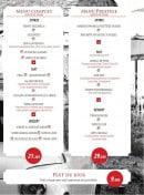 Menu Le Venezia - les menus et plats du jour