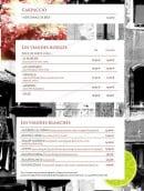 Menu Le Venezia - les carpaccios, les viandes rouges et blanches
