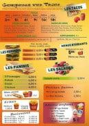 Menu Fast Food Tandoori - Les tacos, menus, paninis,...