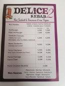 Menu Delice Kebab 2 - Kebab et sauces