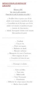 Menu Le Puy d'Alou - Menus groupes