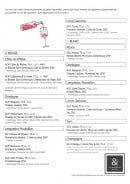 Menu Petit Restaurant MVS - Vins