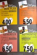 Menu La mie câline - Les menus