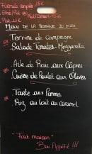 Menu Le Bistro - Le menu de la semaine