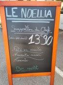 Menu El Noëllia - Exemple de menu
