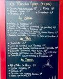 Menu L'après Ski - Les apéros, entrées, plats et desserts