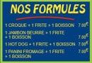 Menu Pizza Tic Tac - Les formules