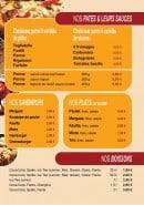 Menu Cyber pasta - Les pâtes, sauces et boissons