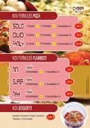 Menu Cyber pasta - Les formules et desserts
