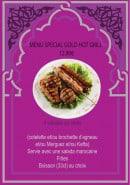 Menu Hot Grill - Le menu spécial Gold Hot Grill