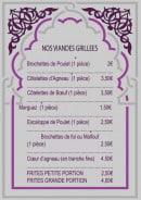 Menu Hot Grill - Les viandes grillées