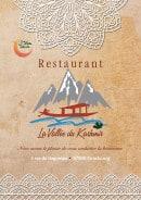 Menu La Vallée du Kashmir - Carte et menu La Vallée du Kashmir Strasbourg