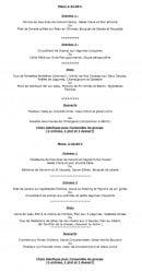 Menu Le Jardin de l'Orangerie - Les menus à 44€