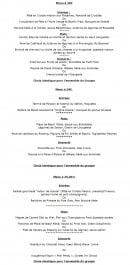 Menu Le Jardin de l'Orangerie - Le menu à 30€, 34€ et 35€