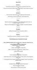 Menu Le Jardin de l'Orangerie - Le menu à 54€ et menus groupes