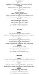Menu Le Jardin de l'Orangerie - Le menu à 27€, 26€ et 30€
