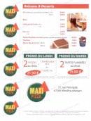 Menu Maxi Pizza - Les boissons, desserts et promotion