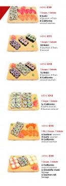 Menu Totoro - Les menus brochettes suite et poissons