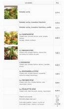 Menu Crêp'Ôz - Les salades